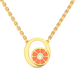 O For Orange Necklace For Kids