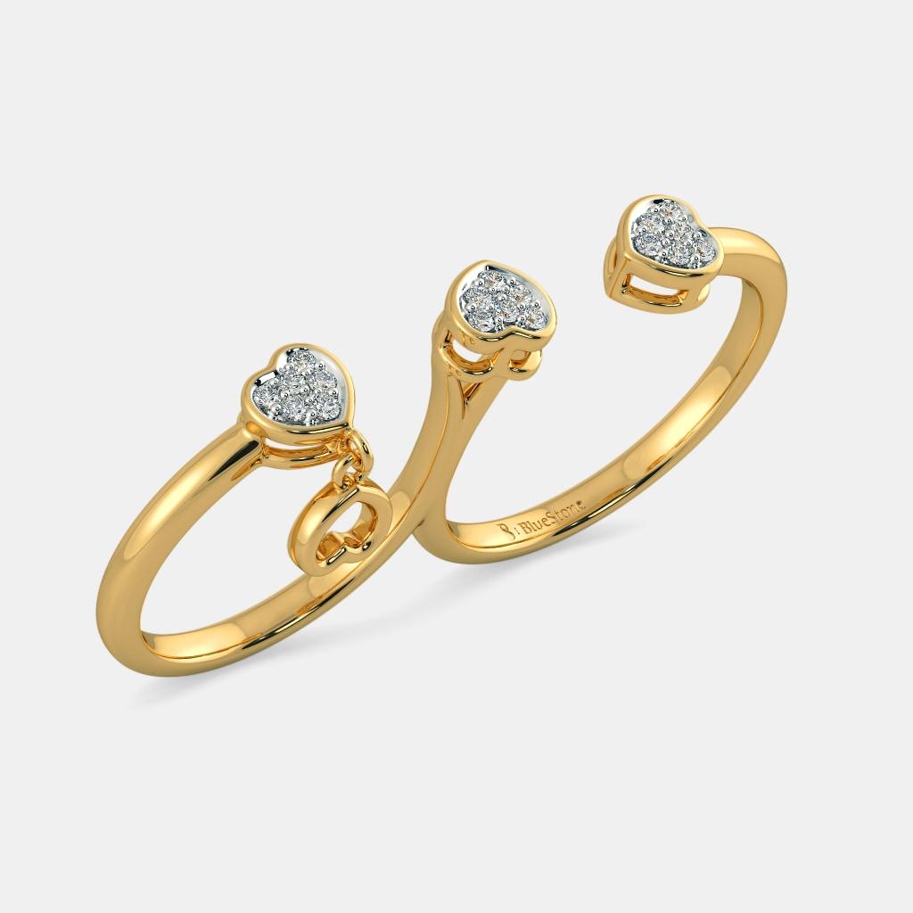 The Tessa Two Finger Ring   BlueStone.com