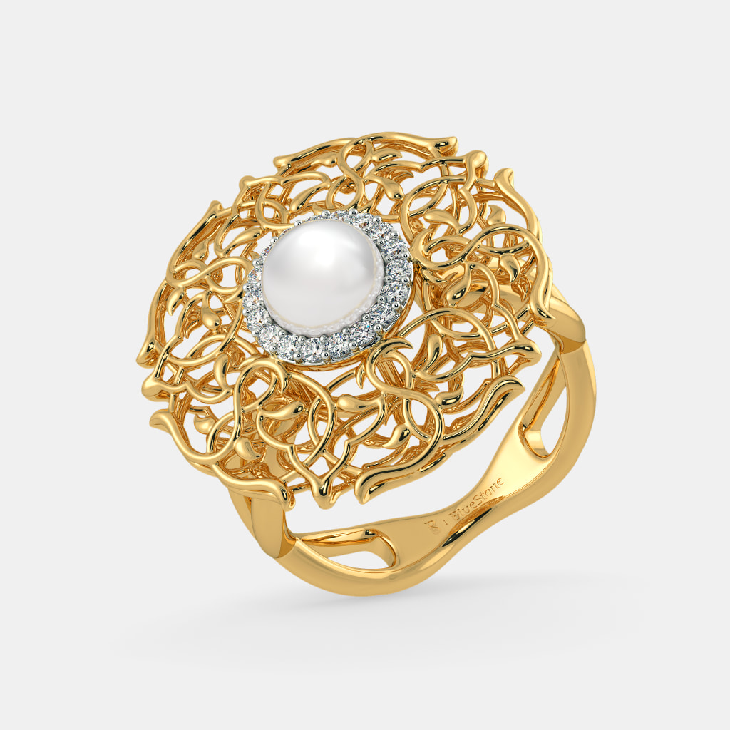 Pearl Rings - Buy Pearl Ring Designs Online in India 2018 | BlueStone