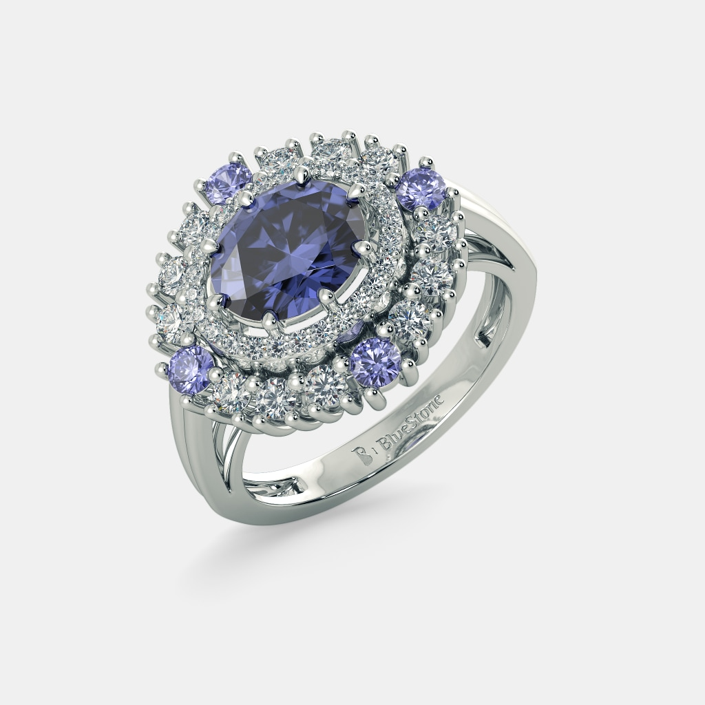 engagement on sapphire stone ring wedding purewow best green images promise blue rings pinterest and