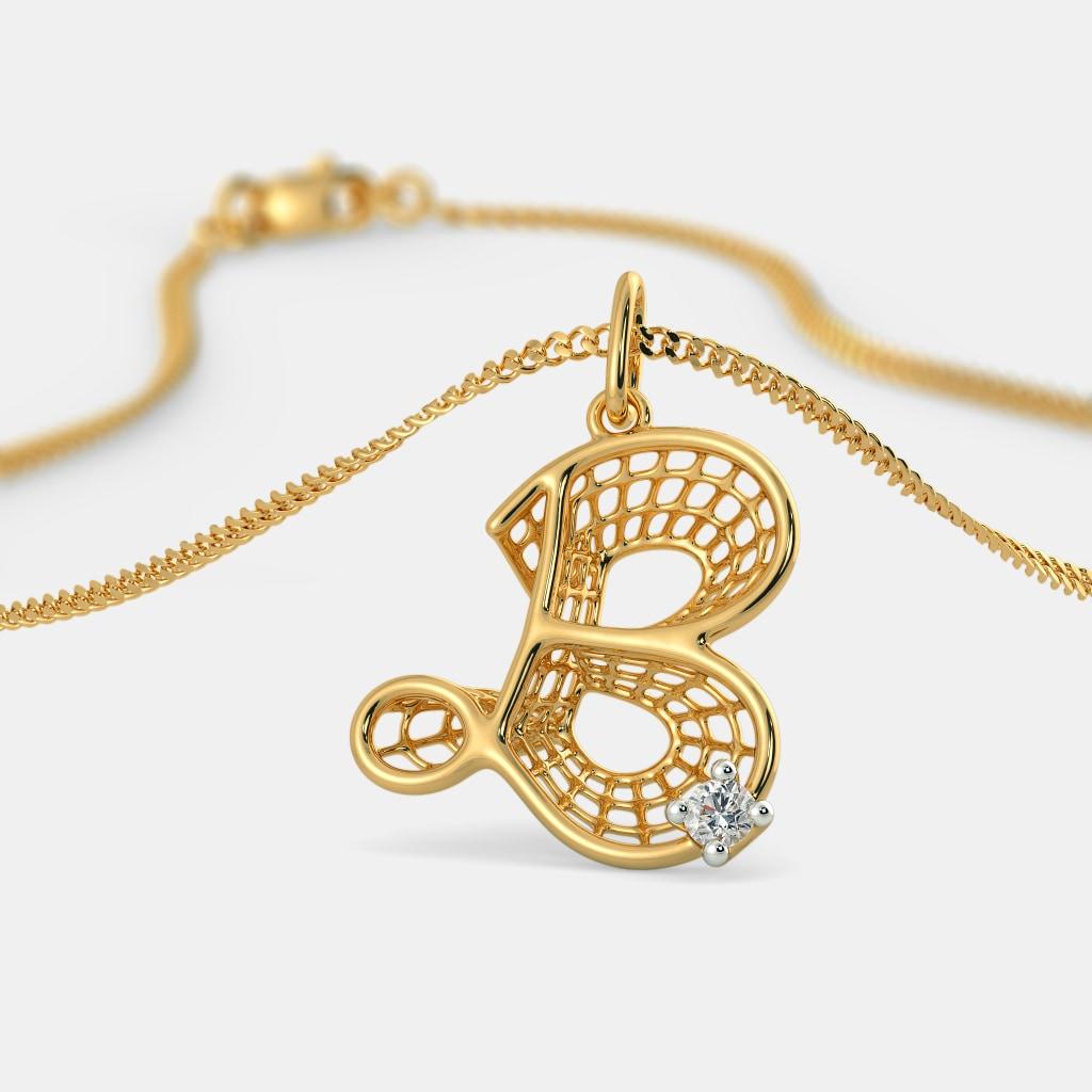 The beautiful b pendant bluestone the beautiful b pendant mozeypictures Image collections