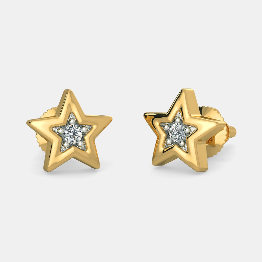 Buy Kids\'s Diamond Earring Designs Online in India 2018 | BlueStone