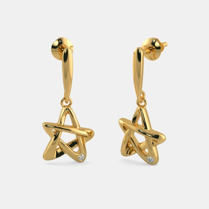 The 5 Point Star Drop Earrings