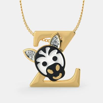Z for Zebra Necklace for Kids