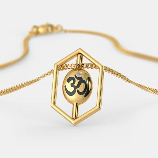 Diamond Pendant In Yellow Gold (3.76 Gram) With Diamonds (0.010 Ct)