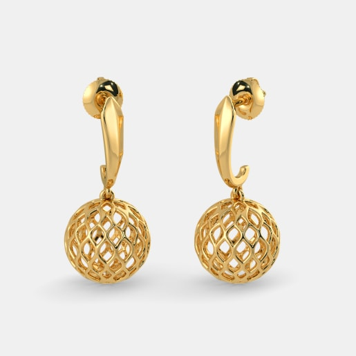 earring low prices stud gold dp earrings at senco buy in yellow online