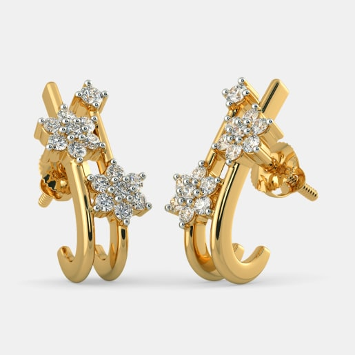 The Almas J Hoop Earrings