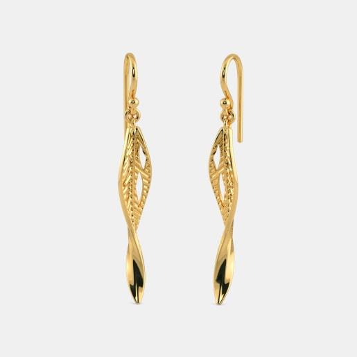 The Foglia leaf Drop Earrings