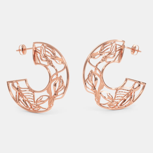 The Callista Roseate Hoop Earrings
