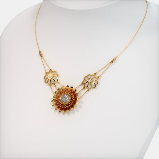 The Heavenly Sunflower Necklace