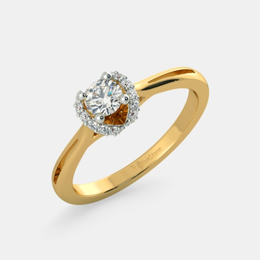 Diamond PreSet Solitaire Ring In Yellow Gold (2.75 Gram) With Diamonds (0.110 Ct) And Solitaire (0.25 Ct)