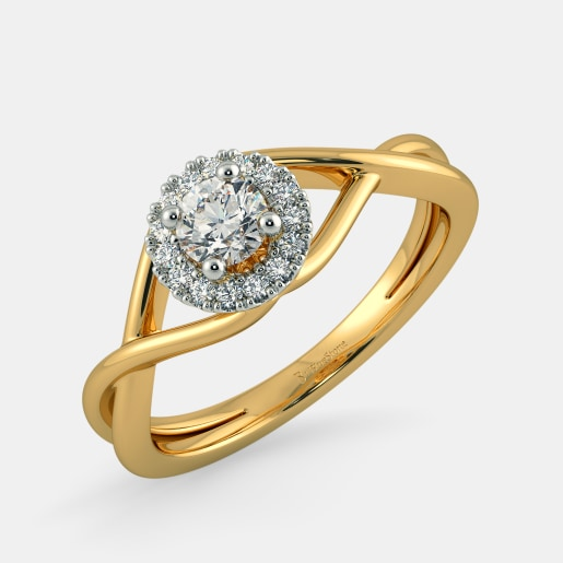 Diamond PreSet Solitaire Ring In Yellow Gold (3.88 Gram)