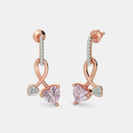 The Dona Rose Quartz Earrings