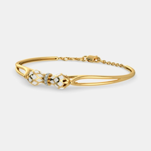 Diamond Bracelet In Yellow Gold (11.09 Gram) With Diamonds (0.065 Ct)