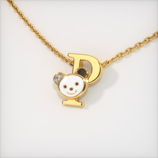 The P for Panda Necklace for Kids