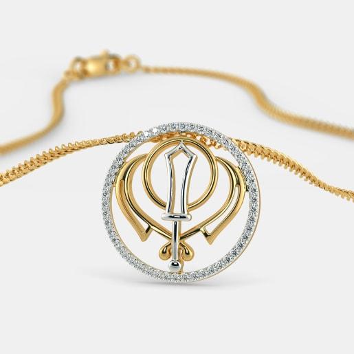 Buy Gold Khalsa Pendant Designs Online In India 2018 Bluestone