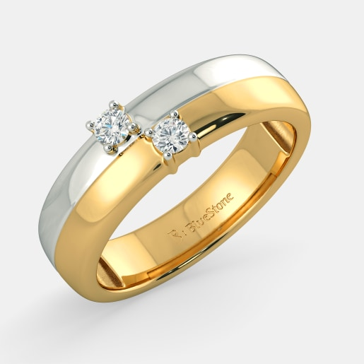 Buy Gold Couple Band Ring Designs line in India 2018