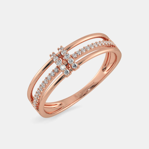 Rose Gold Rings Buy 100 Rose Gold Ring Designs line in India