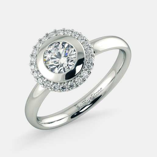 Diamond PreSet Solitaire Ring In White Gold (3.7 Gram) With Diamonds (0.132 Ct) And Solitaire (0.50 Ct)