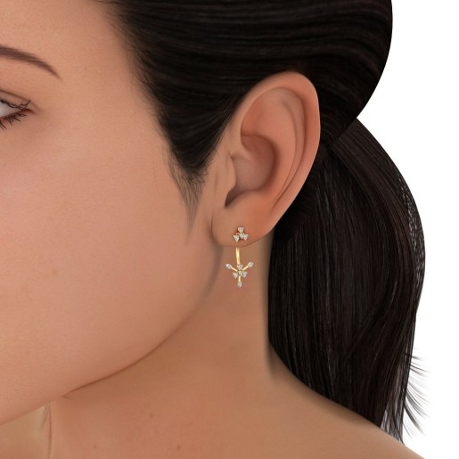 The Amnit Front Back Earrings