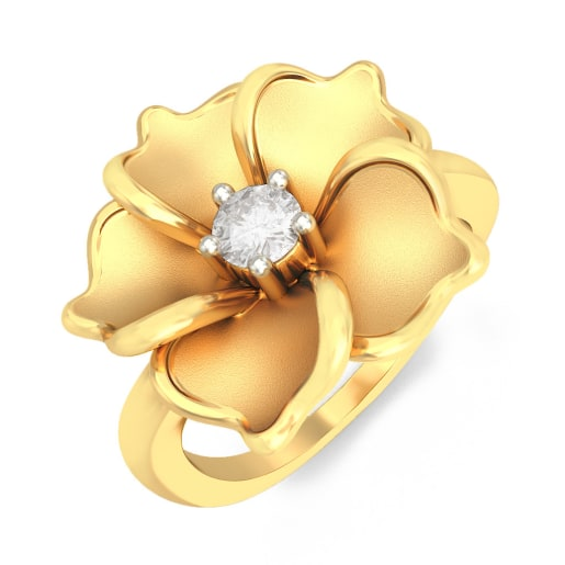 Diamond Ring In Yellow Gold (4.46 Gram) With Diamonds (0.032 Ct)