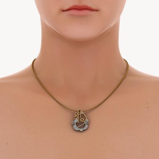 Diamond Pendant In White Gold (4.107 Gram) With Diamonds (0.253 Ct)
