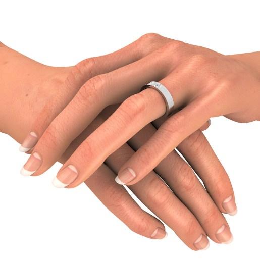 Diamond Ring In Platinum Pt950 (6.327 Gram) With Diamonds (0.020 Ct)